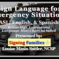 Sign Language for Emergency Situations: ASL, English & Spanish