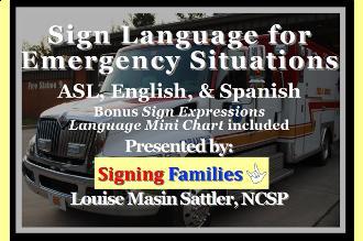 Sign language for emergencies