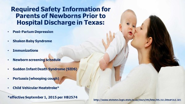 Reqd Safety Info for Parents of Newborns TX
