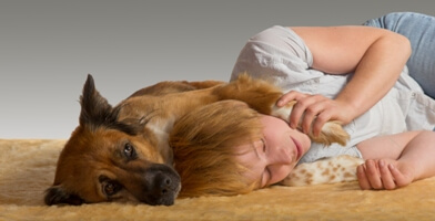 Mom is Sick. How to Avoid Kids & Dog Taking Charge